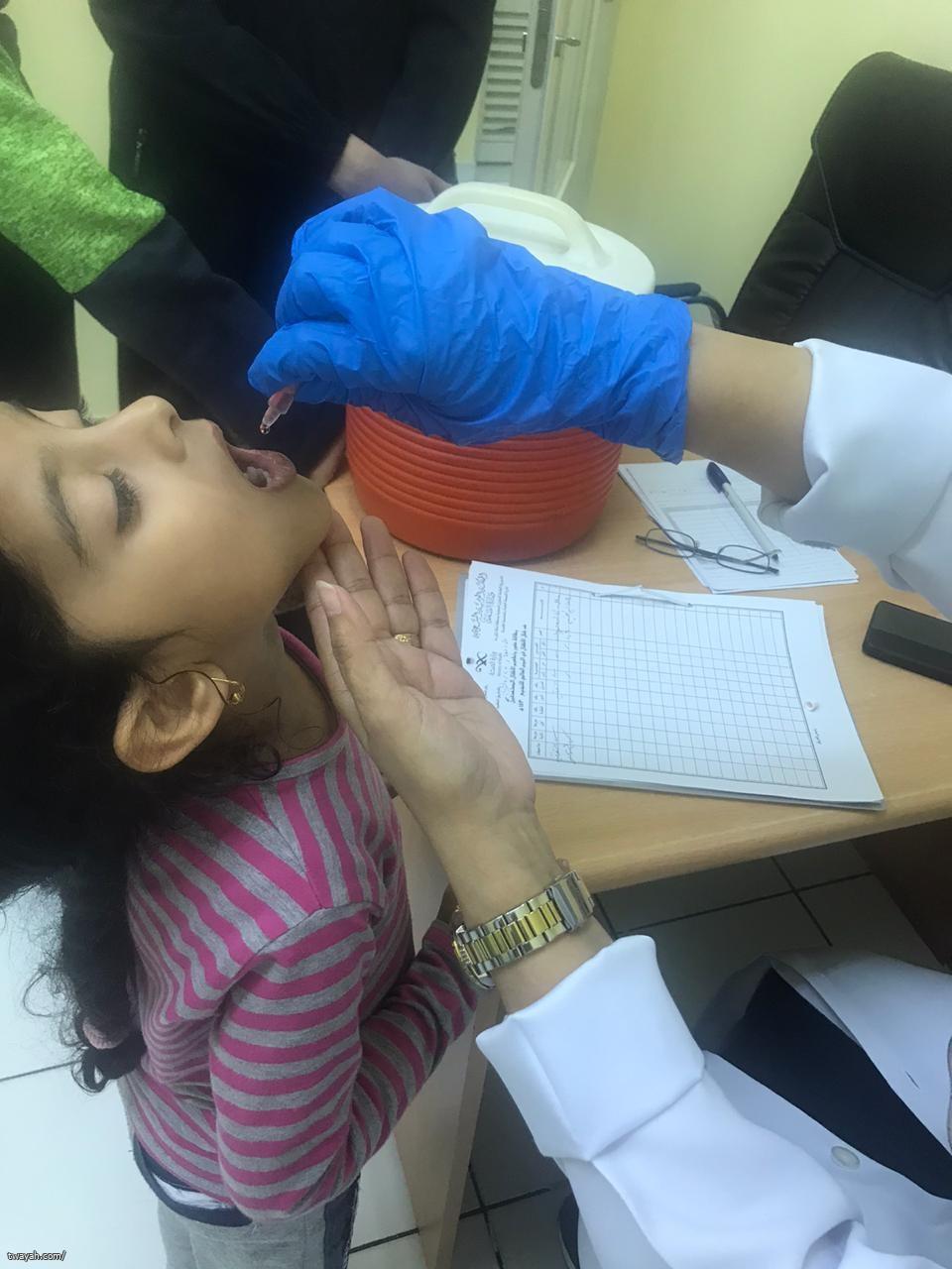 مركز صحي الكعكية ينفذ حملة شلل الأطفال الجرعة الثانية