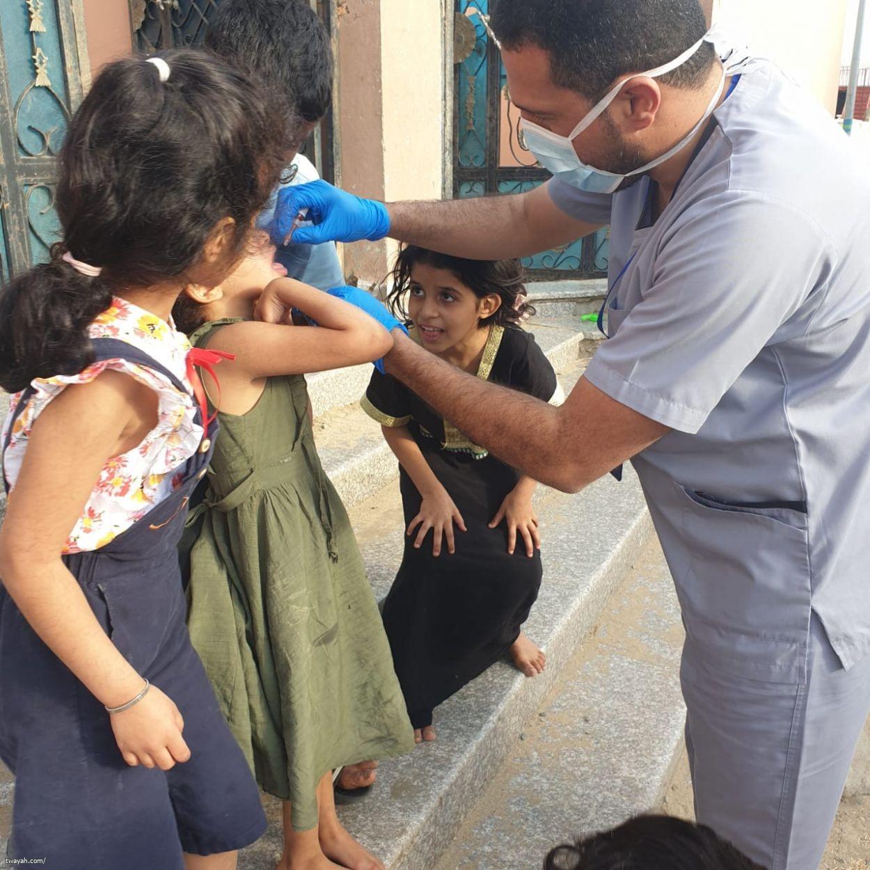 حملة شلل الأطفال بمركز صحي حداء