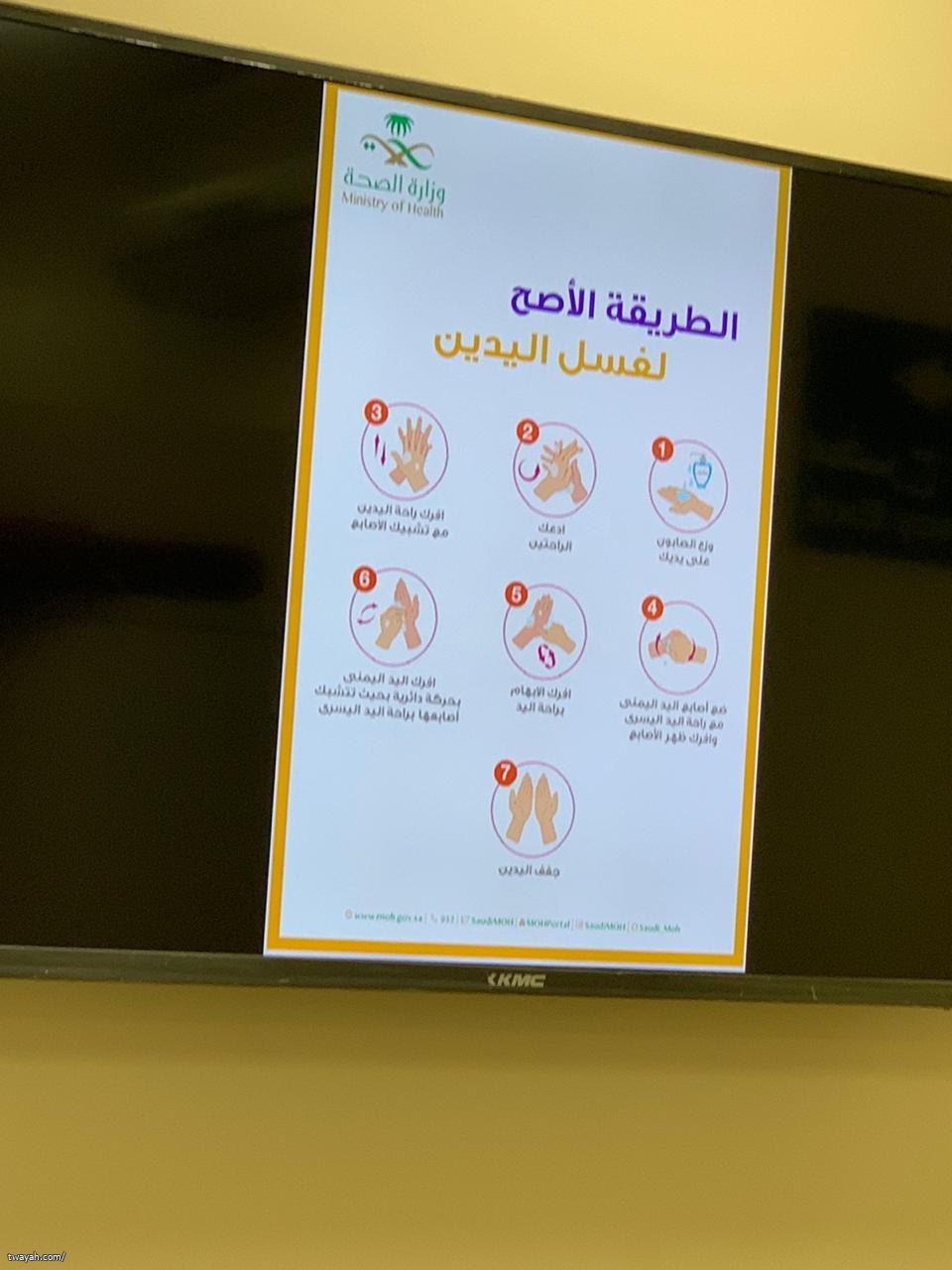 مركز صحي أبو عروة ينفذ الحملة التوعوية بفيروس كورونا