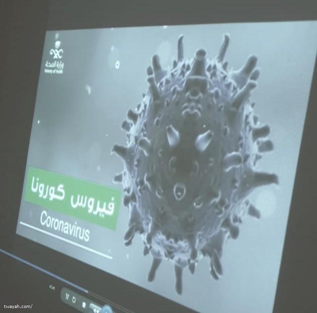 حملة التوعية بفيروس كورونا بإبتدائية عذبة بنت سعد المسائية
