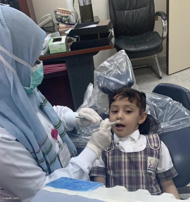 مركز صحي أبو عروة يستضيف روضة شعاع الصفوة بصحة الفم والأسنان